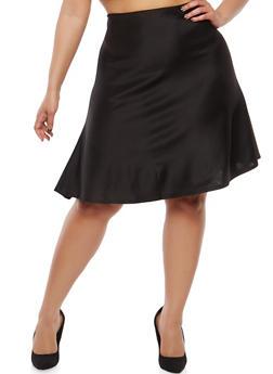 Plus Size Skater Skirt - 8444020621415