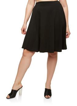 Plus Size Skater Skirt - 8444020624404