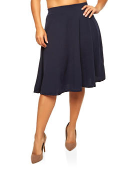 Plus Size Skater Skirt - 8444020624404