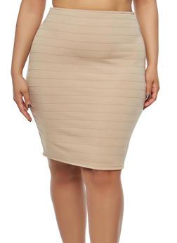 Plus Size Bandage Pencil Skirt - 8444020624485