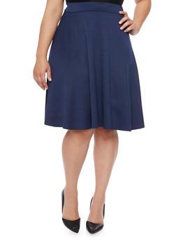 Plus Size Scuba Knit Circle Skirt - 8444020624600