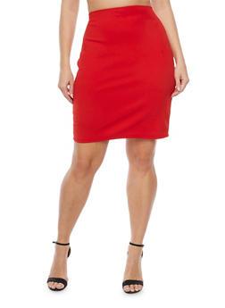 Plus Size Knit Pencil Skirt - 8444020625485