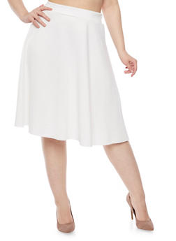 Plus Size A Line Skirt - 8444020627445