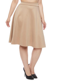 Plus Size A Line Skirt - 8444020627445