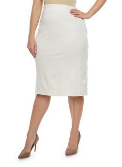 Plus Size Side Lace Up Pencil Skirt - 8444062707251