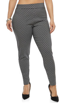 Plus Size Printed Pants - 8445062706181