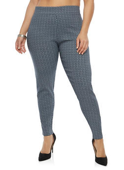 Plus Size Printed Pants - 8445062706181