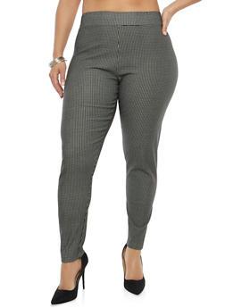 Plus Size Printed Dress Pants - 8445062706182