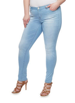 Plus Size Wax Basic Stretch Jeans - 8448071610052