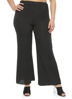 Plus Size Polka Dot Pants - 8464020626399
