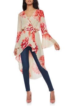 Floral High Low Maxi Top - 8476056124597