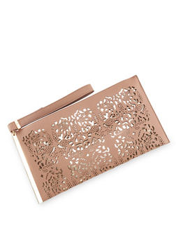 Foil Lined Lasercut Clutch with Wrist Strap - 8502061596055