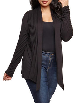 Plus Size Pleated Cardigan - 9424062705133