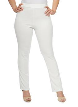 Plus Size Soft Knit Dress Pants - 9441020621834