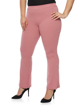 Plus Size Soft Knit Dress Pants - 9441020621834