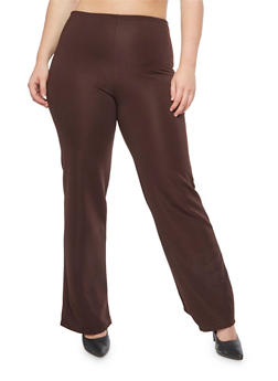 Plus Size Textured Knit Pants - 9441020625119