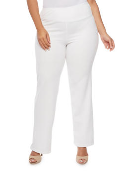 Plus Size Knit Bootcut Pants - 9441020625301