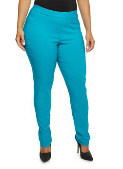Plus Size Stretch Twill Pants - 9441020627339