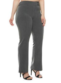 Plus Size Wide-Leg Pants - 9441062707307