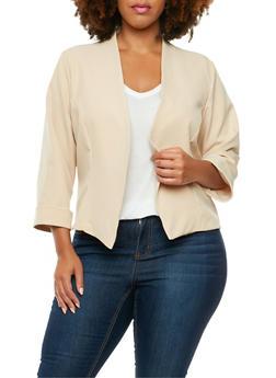 Plus Size Asymmetrical Blazer - 9445020626499