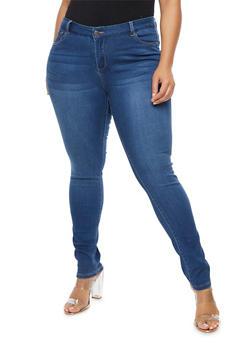Plus Size WAX Classic Skinny Jeans - 9448071610037
