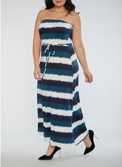 Plus Size Strapless Maxi Dress - 9475020624562