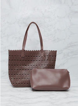 2 Piece Laser Cut Tote Bag - 9502061590130