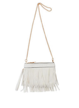 Double Zip Fringe Crossbody Bag - 9502061590290