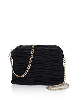 Faux Leather Crossbody Bag - 9502061595090