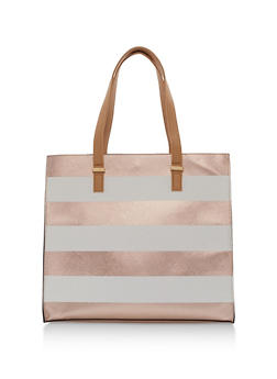 Large Wide Stripes Tote Bag - 9502061597620