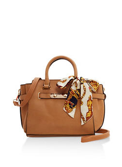 Small Satchel with Scarf Detail - 9502073892076