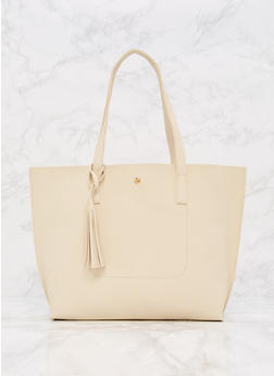 Soft Textured Faux Leather Tote Bag - 9502073895040