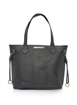 Perforated Faux Leather Tote Bag - 9502073895098
