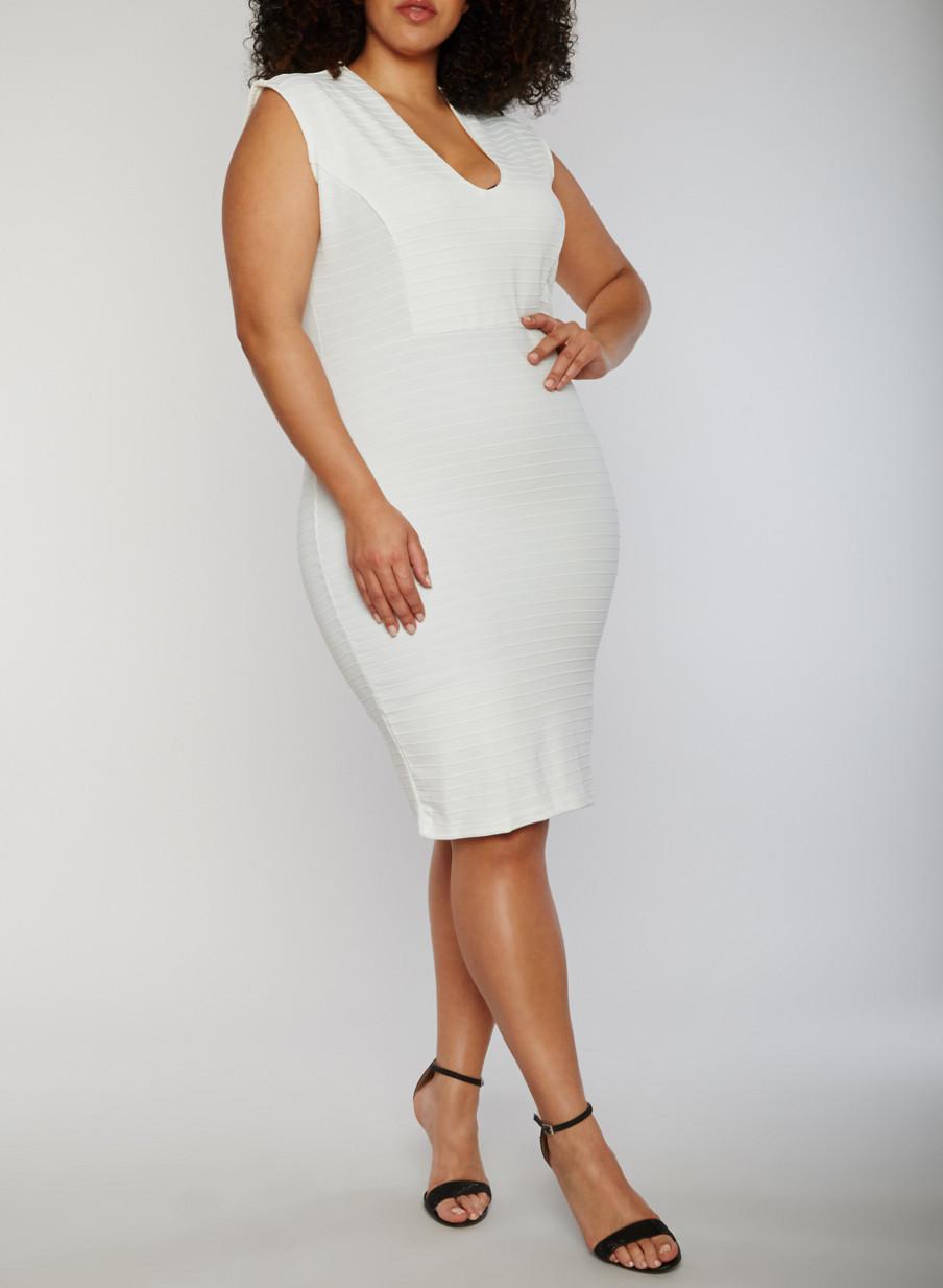 Plus Size White Bandage Dress Dress Images