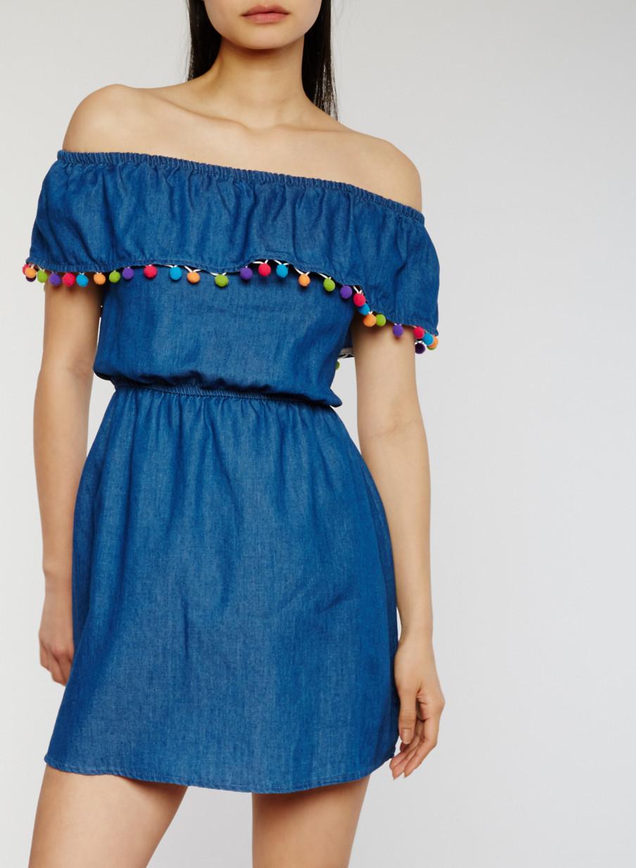 Denim Dresses for Women   Rainbow