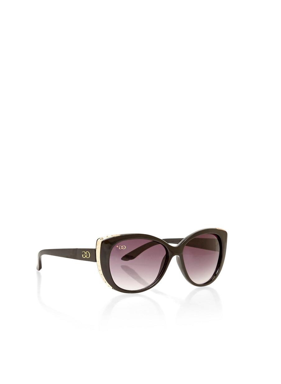 Metal Cat Eye Sunglasses  metal outline plastic frame cat eye sunglasses rainbow