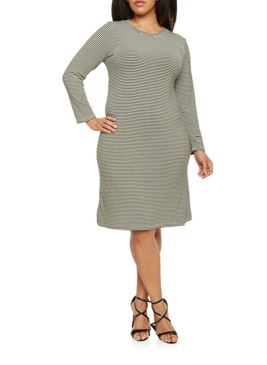 Plus Size T-Shirt Dresses  Rainbow