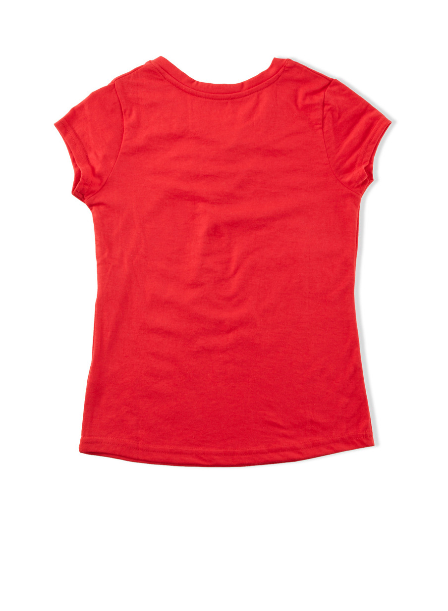 girls red top