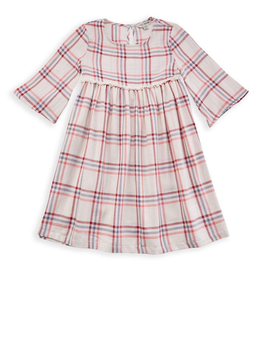 Girls 7-16 Lucky Brand Plaid Dress - Multi - Size L