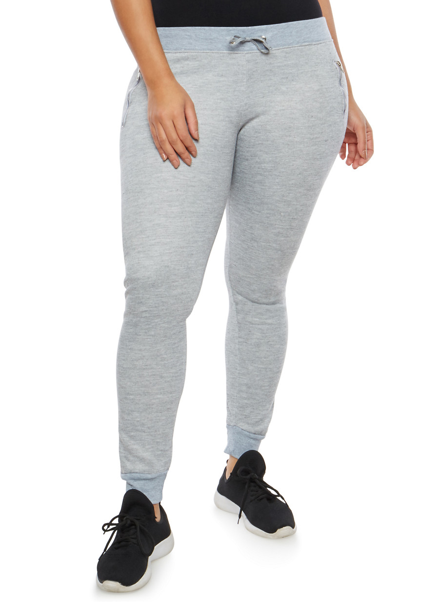 plus size fleece lined sweatpants - rainbow
