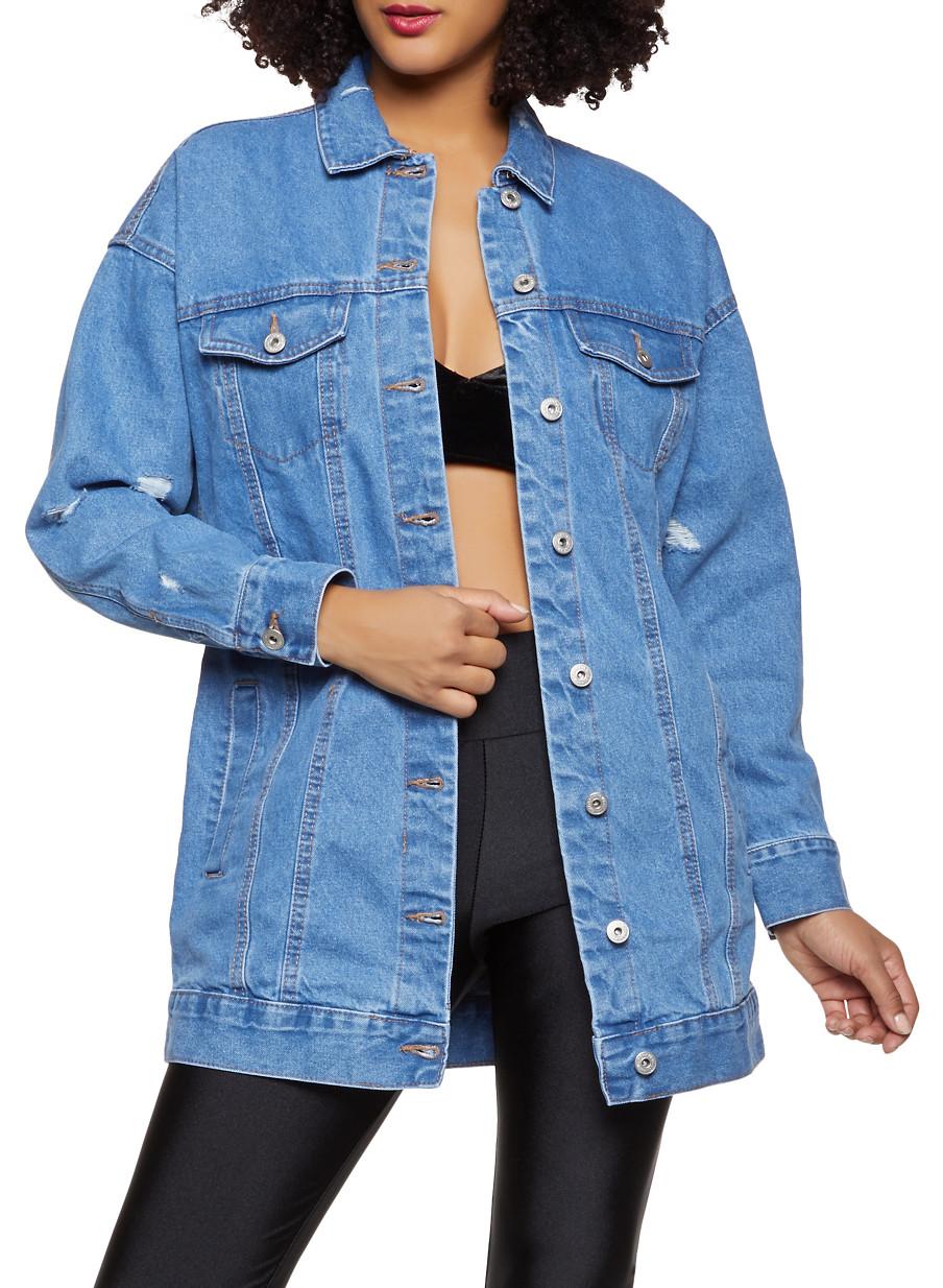 Boyfriend Jean Jacket - Blue - Size XL