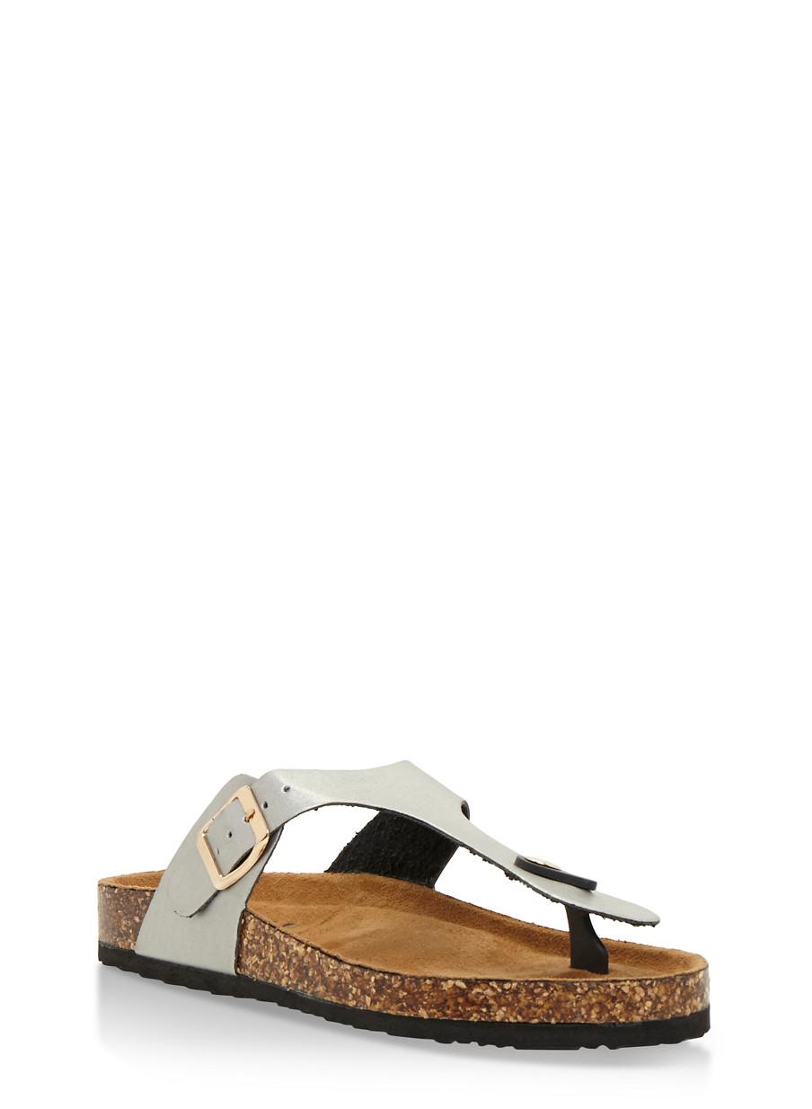 Shoes n sandals online - Cork Sole Thong Slide Sandals 3112073541703