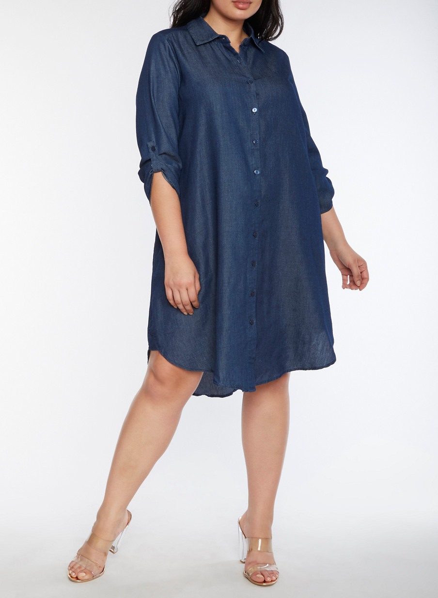 plus size shirt dresses | rainbow