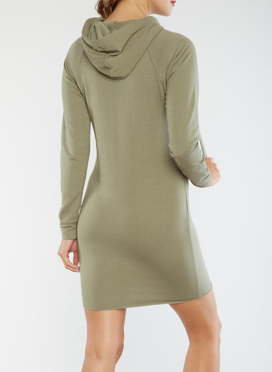 Hooded Sweater Dress - Rainbow