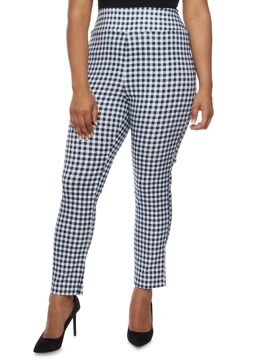 Plus Size Printed Stretch Pants - 3816062416473 - Plus Size Pants Rainbow