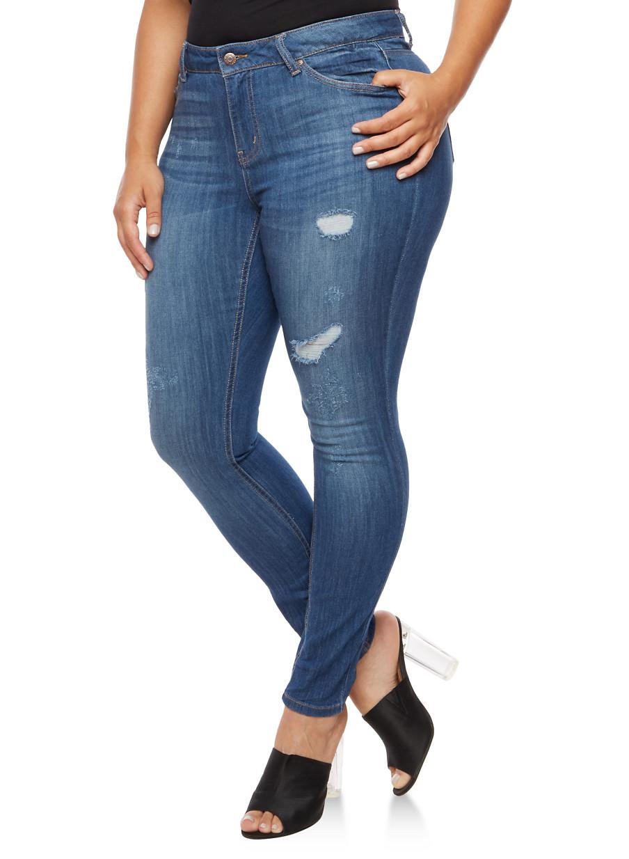 plus size jeans for women   rainbow