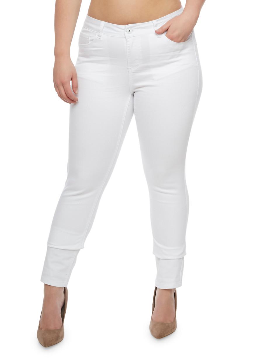 Plus Size WAX Push Up Skinny Jeans - Rainbow