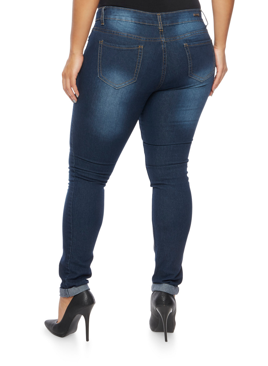 Plus Size Ripped Skinny Jeans 2017 | Xtellar Jeans - Part 509