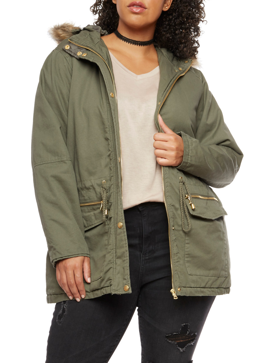 plus size anorak jackets for women | rainbow
