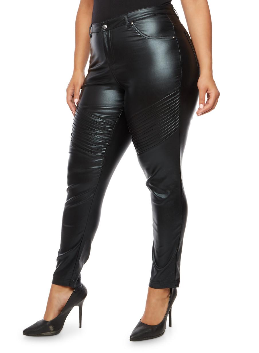 moto skinny jeans. plus size coated moto skinny jeans,black,large jeans